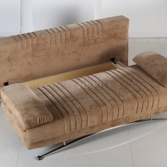 Brown Microfiber Sofa Bed Loveseat Sleeper Sale Soft Modern Convertible W Storage