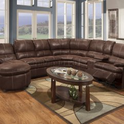 Baseball Leather Sofa 70 Inch Rustic Brown Microfiber Reclining Sectional W
