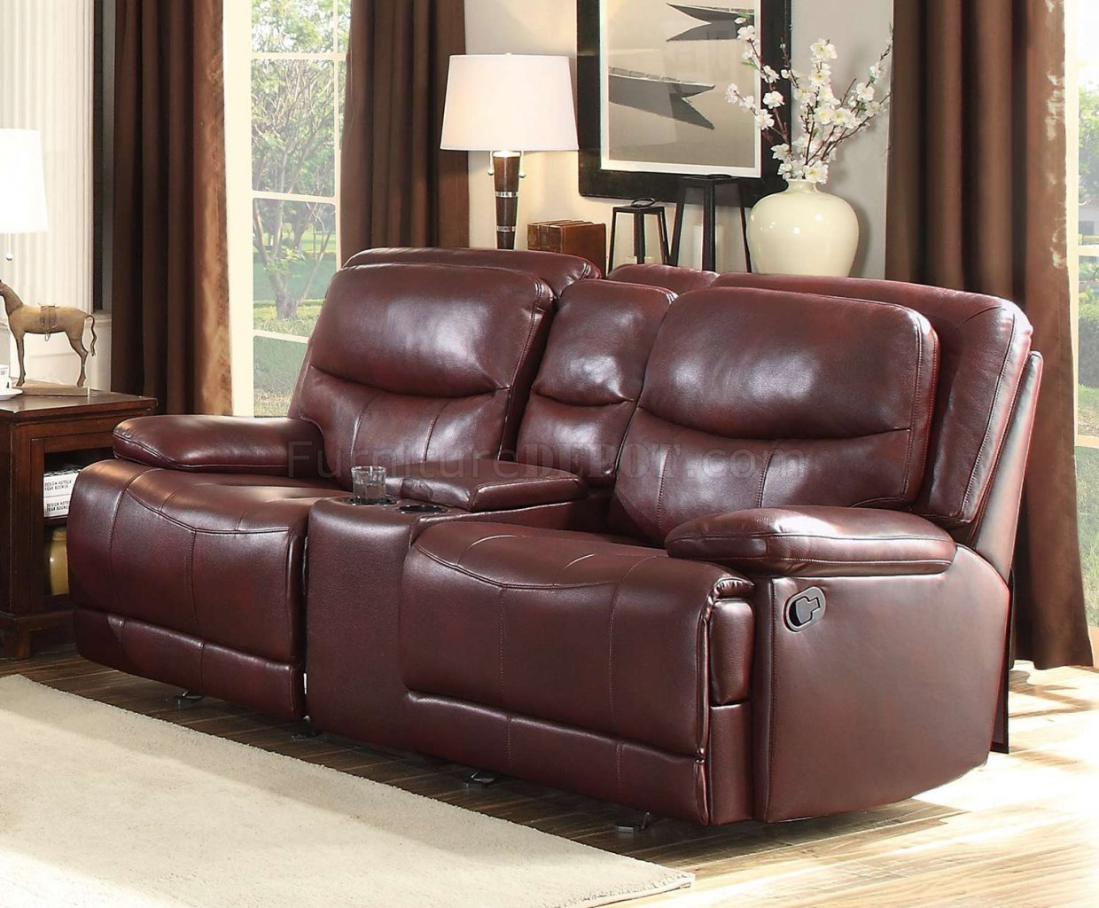 liberty sofa and motion loveseat fabric corner sofas glasgow risco 8599bgd in burgundy by homelegance w options