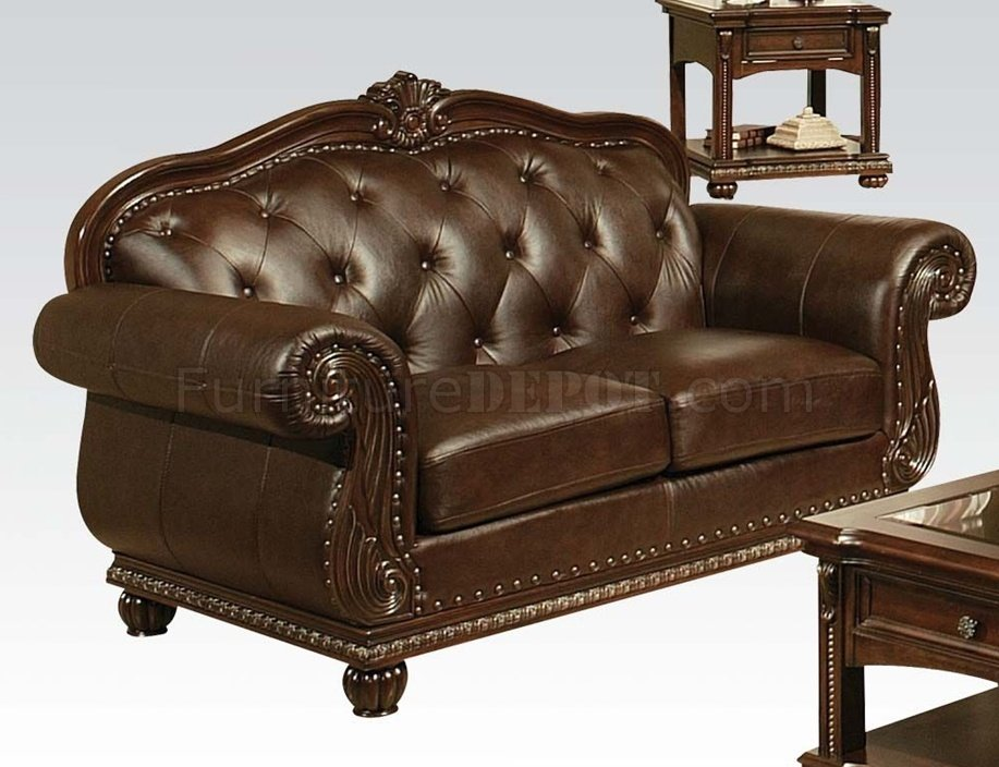 anondale leather sofa by