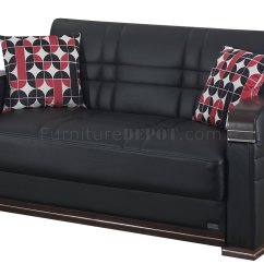 Leatherette Sofa Durability Power Recliner Ashley Furniture Bronx Bed In Black W Optional Loveseat