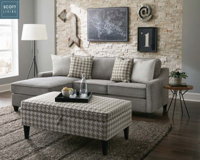 Montgomery Sectional 501697 in Charcoal Scott Living by