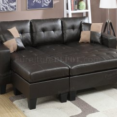 Espresso Bonded Leather Reclining Sofa Loveseat Set Costume F6927 Sectional In By Boss
