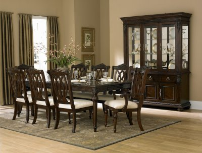 Rich Cherry Finish Classic Dining Room Table wOptional Items