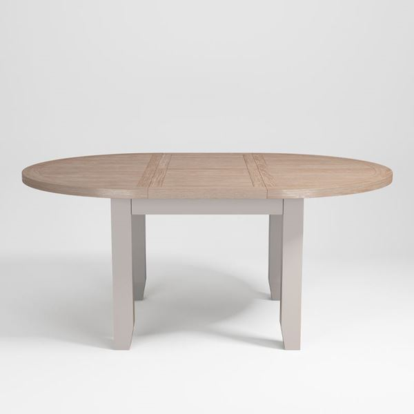 St Ives Small Round Extending Dining Table Quality Oak Furniture From The Furniture Directory