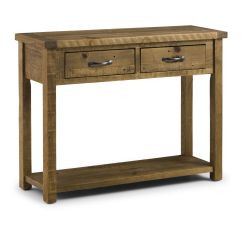 Small Sofa Table Uk Rattan Round Dining Set Cordoba Solid Pine Console With 2 Drawers Jb37