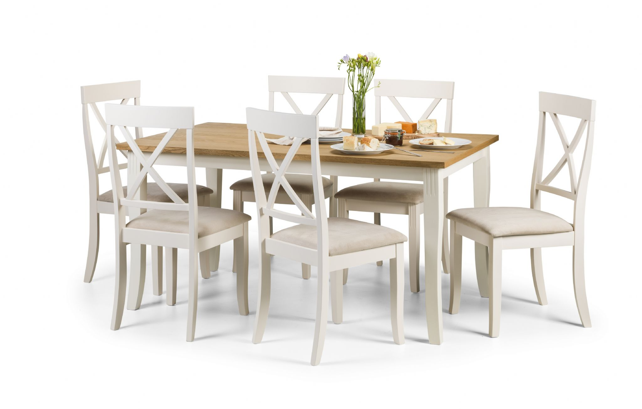ivory dining chairs uk colorful outdoor guernica oiled oak and table jb186