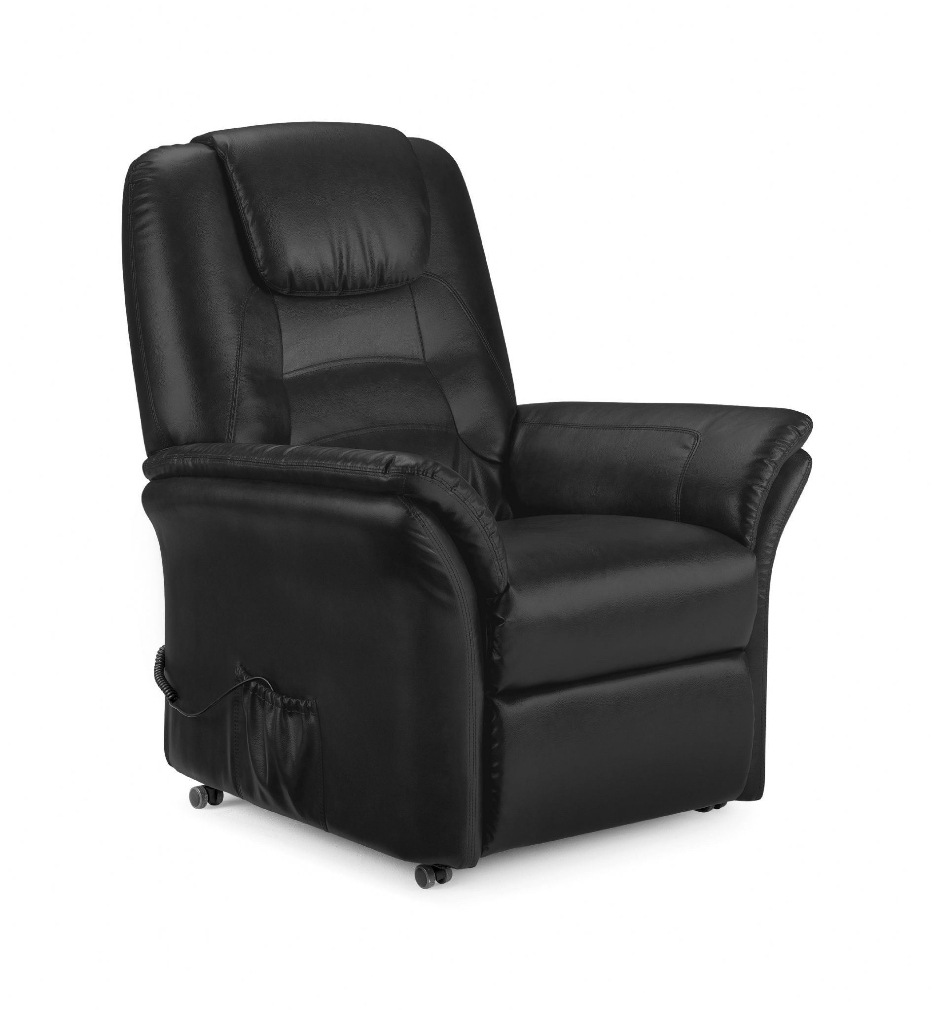 faux leather recliner chair covers vintage dining room chairs montesilvano black rise and recline jb459