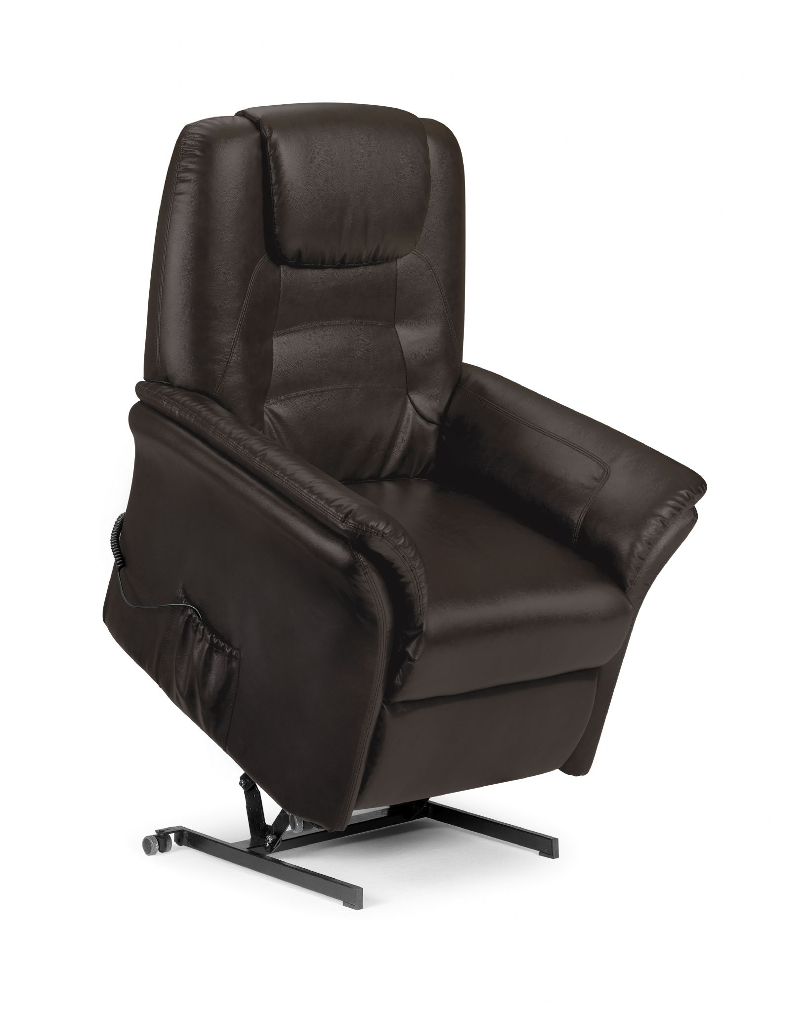 faux leather recliner chair unusual modern montesilvano brown rise and recline jb460