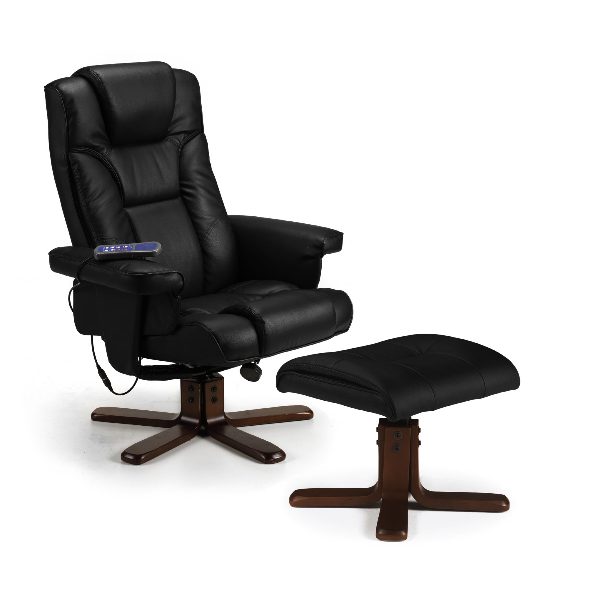 office chair johor pier 1 dining chairs roncesvalles black massage recliner and stool jb296