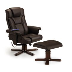Swivel Recliner Chairs Nz Swing Chair Townsville Roncesvalles Brown Massage And Stool Jb297
