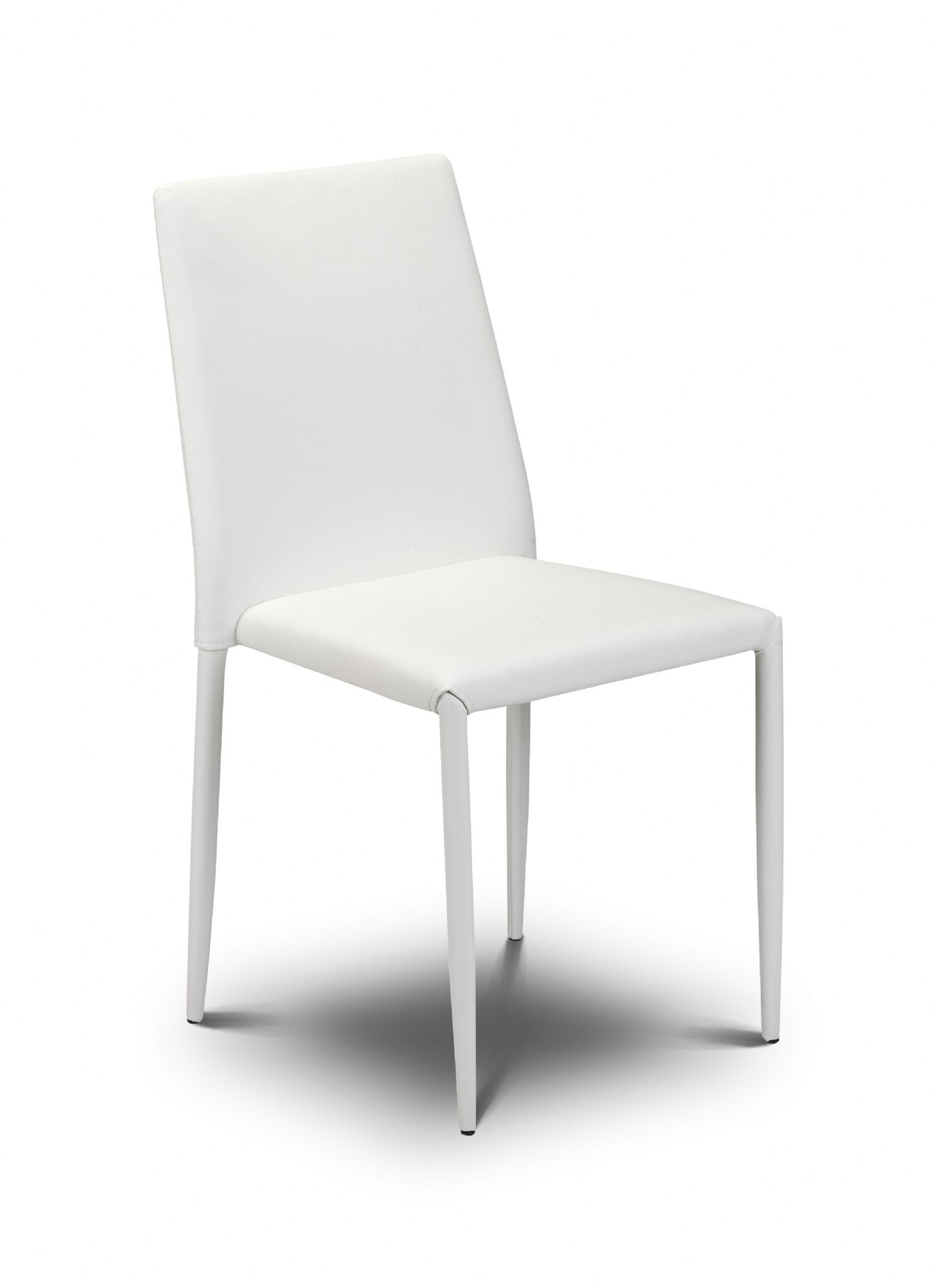 stacking dining chairs uk hydraulic gaming chair for sale rovigo vibrant white leather stack away jb245