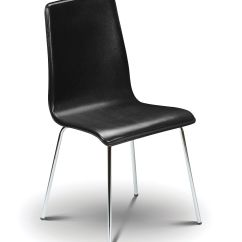 Leather Chrome Chair Diy Hanging For Your Room Sagunto Modern Black With Jb300