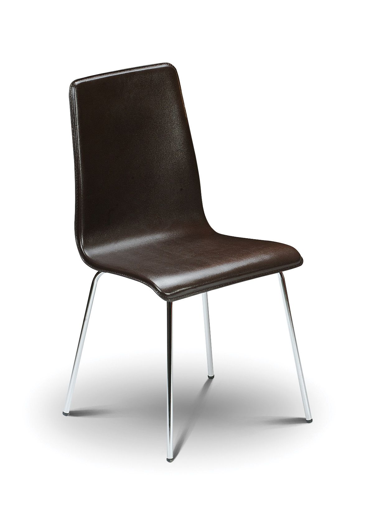 chrome dining chairs uk chair webbing repair sagunto modern brown leather with jb301