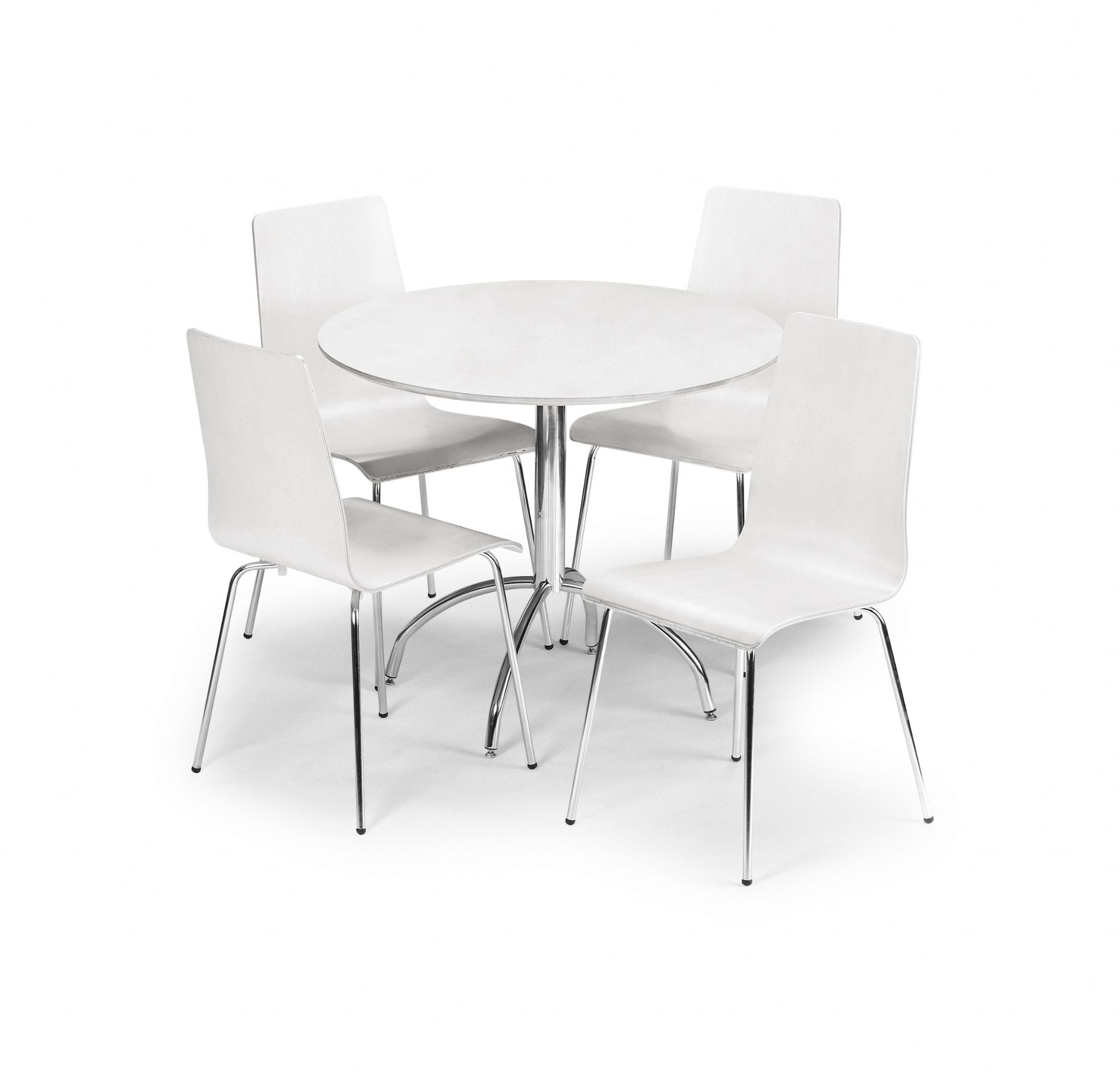chrome dining chairs uk wicker bedroom chair ebay sagunto white pedestal table jb305