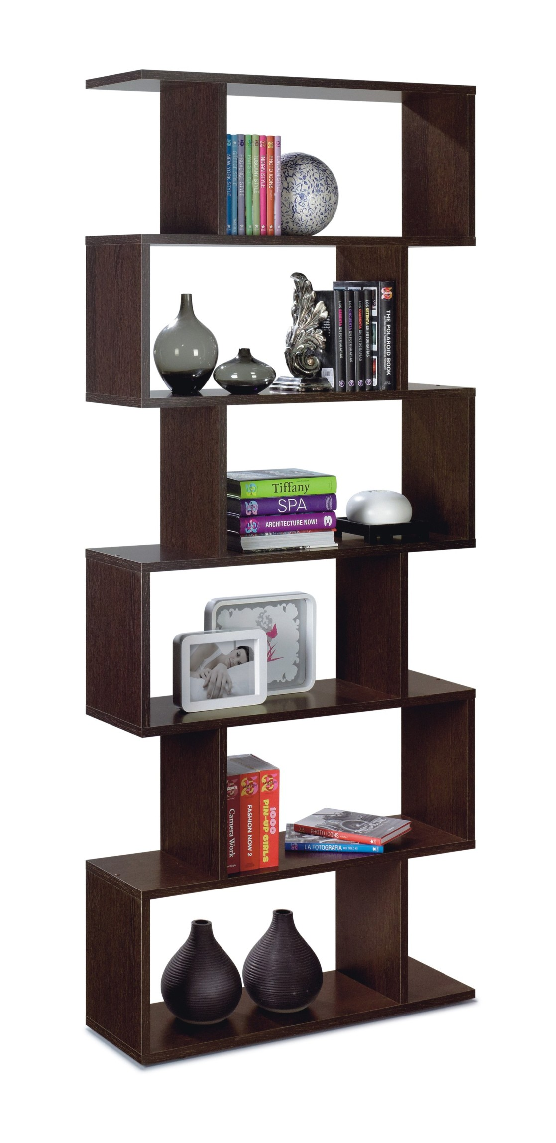 Venice Open Back Wenge Brown Bookcase 2441