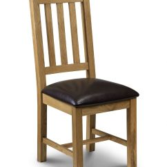 Oak And White Dining Chairs Stool Chair With Arms Zaragoza Brown Faux Leather Jb51