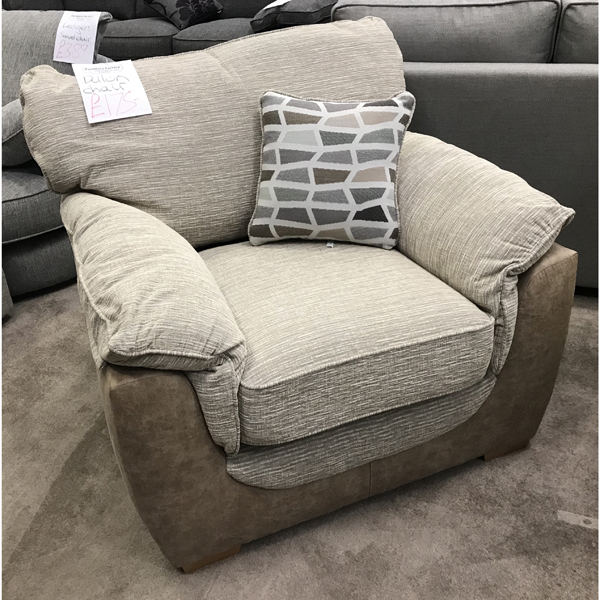 dillon chair 1 2 outdoor swing bunnings upholstery page furniture factory clearance centre perth armchair