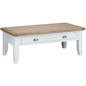 New England Large Coffee Table - White