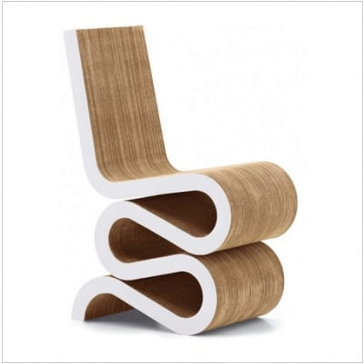 frank gehry cardboard chairs formal dining room the wiggle chair furniture from and vitra