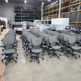 herman miller used office chairs lounge chair covers amazon aeron at furniture finders thumb