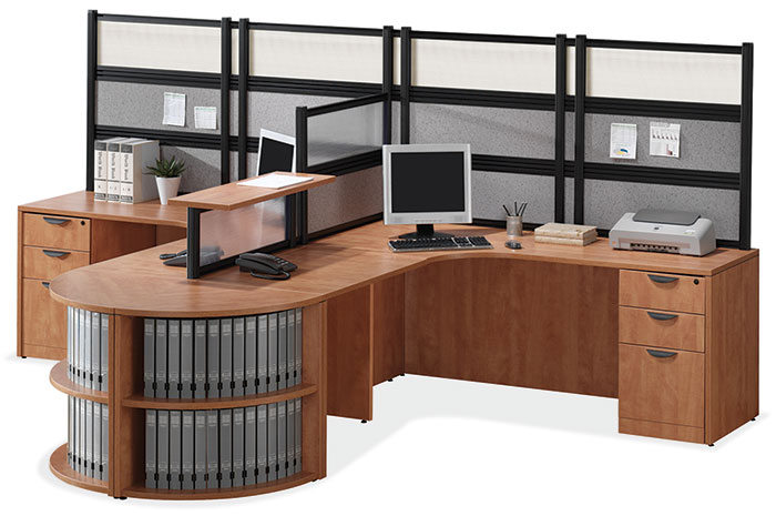 New Office Desks  2Person LDesk Workstation at