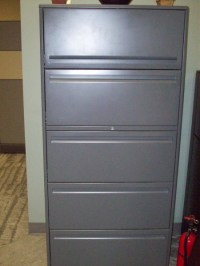 Used Office File Cabinets : 5 Drawer File Cabinet at ...