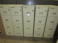 Used Office File Cabinets : Sentry Fireproof vertical ...