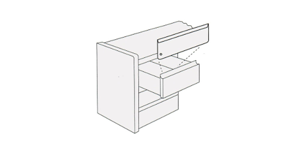 New Office Parts and Accessories : Box Drawer Divider for