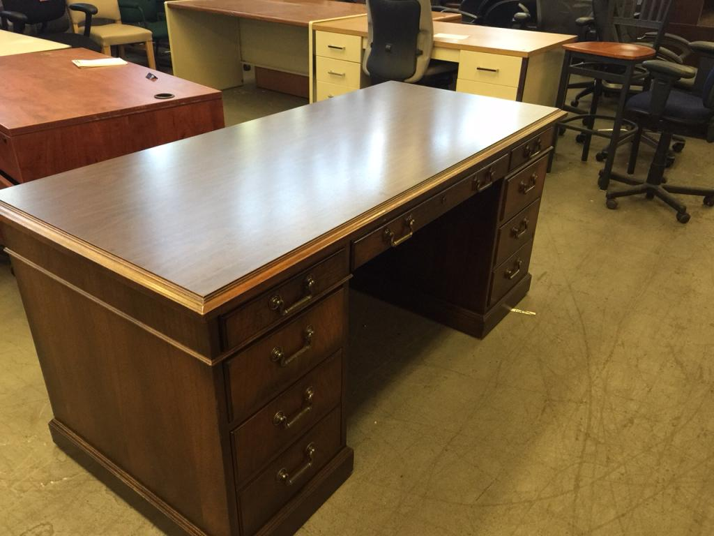 Used Office Desks  EXECUTIVE DESK by KIMBALL OFFICE