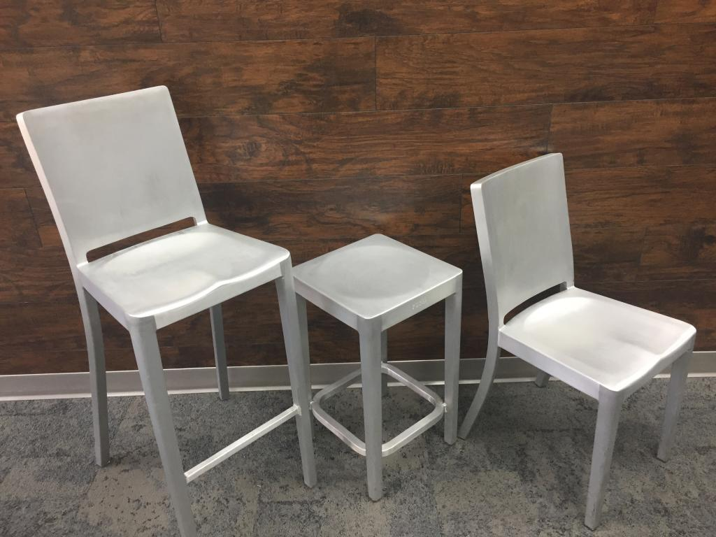 office chair on rent quartz folding used chairs emeco aluminum seating by phillip