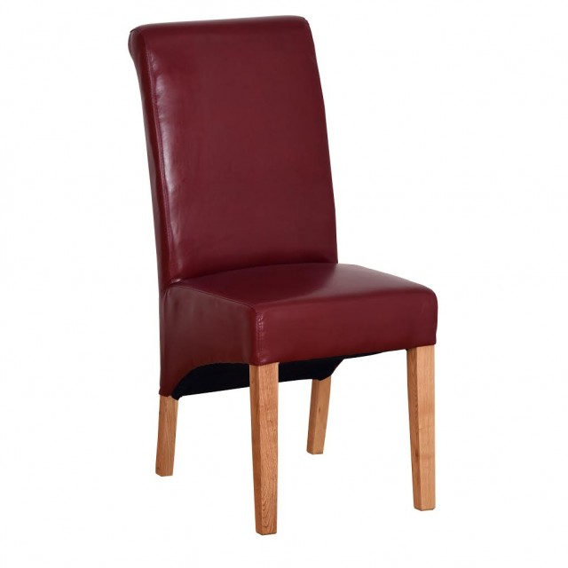 Sale item Red leather dining chair