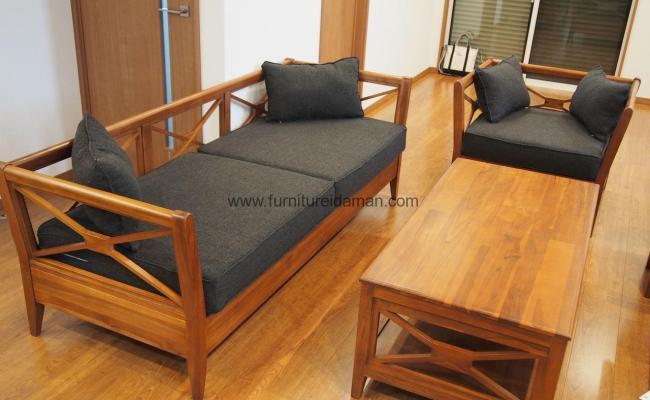 Kursi Tamu Minimalis Kayu Jati Furniture Idaman