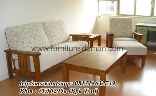 Set Kursi Sofa Minimalis Kayu Jati Ksi 07 Furniture