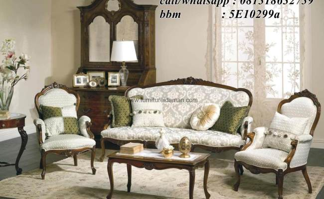 Set Sofa Tamu Klasik Victorian Ksi 06 Furniture Idaman