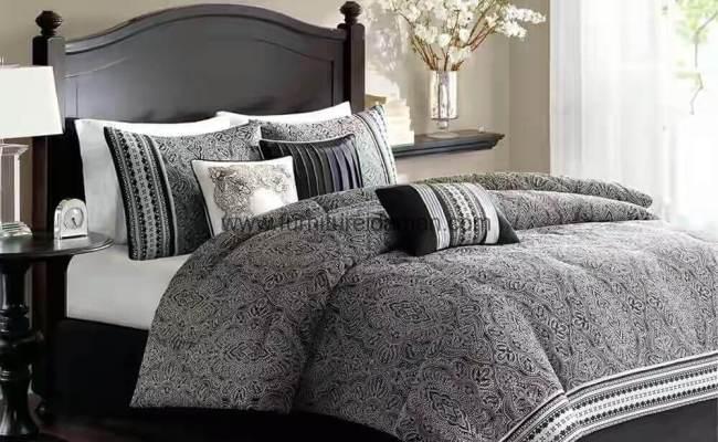 Set Tempat Tidur Minimalis Warna Hitam Ski 05 Furniture