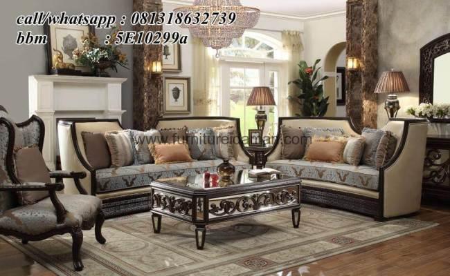 Set Kursi Tamu Klasik Mewah Italian Ksi 43 Furniture