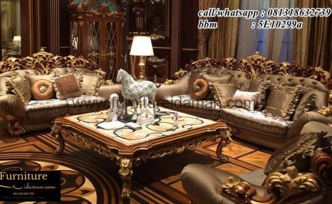 Set Sofa Ruang Tamu Klasik Super Luxury Ksi 56 Furniture