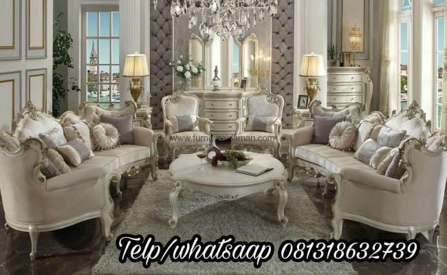 Set Sofa Tamu Mewah Putih Furniture Idaman Ksi 59
