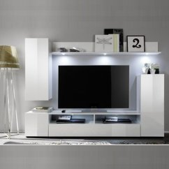White Gloss Living Room Furniture La Z Boy Delta Set 1 In High With Led Click To Enlarge