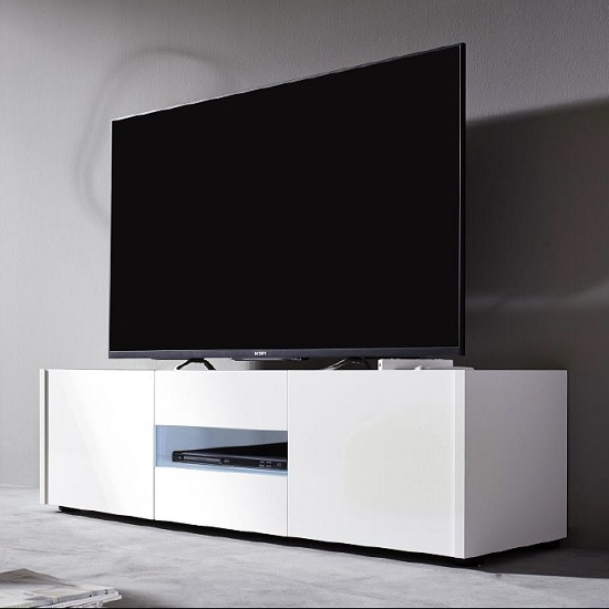 living room sets with tv spaces cannes lcd stand in white gloss 3 doors and led