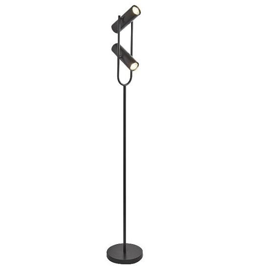 Cylinder Shade Floor Lamp In Matt Black 34622 Furniture in