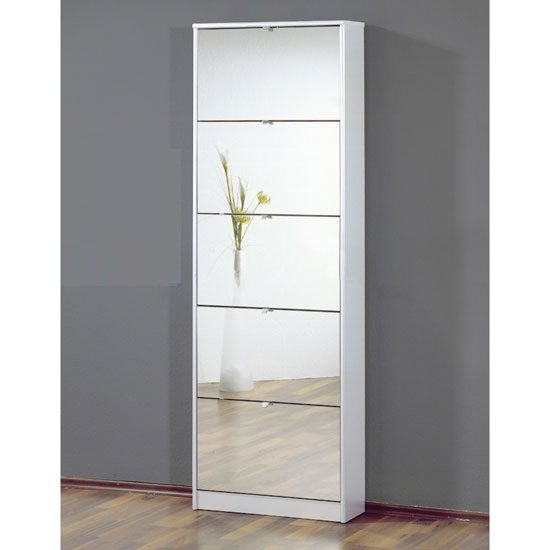 Zamora 5 Bathroom Wall Cabinet in White Finish 20022 Furnitu