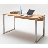 Lucy Solid Core Beech Computer Desk With Chrome Legs 22147