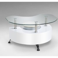 High Gloss Coffee Tables   Black & White   Furniture in ...