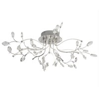 Willow Chrome Five Led Ceiling Light With Glass Trim 33747