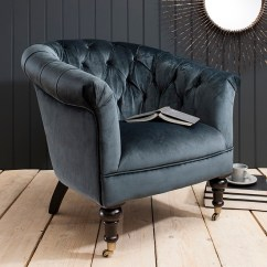 French Barrel Chair King Folding Dovern 1 Seater Sofa In Teal Velvet With Wooden Legs And