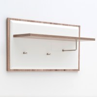 Camino Wall Mounted Coat Rack In White Gloss Front And Oak