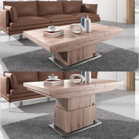 Elgin Extendable Coffee Converting Dining Table In Sonoma
