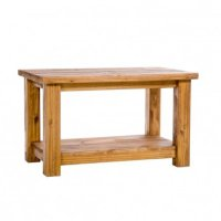 Farmerhouse Rough Sawn Aged Waxed Pine Coffee Table With ...